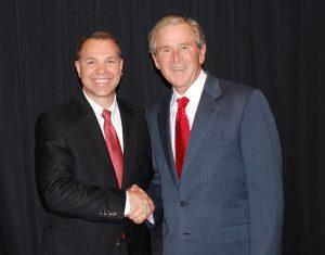 Otwell with George W. Bush